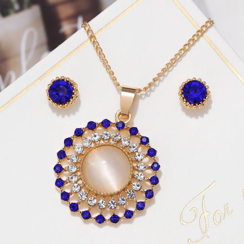 Exquisite Bling Opal Jewelry Sets