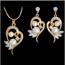 Simulated Plant Pearl Jewelry Sets