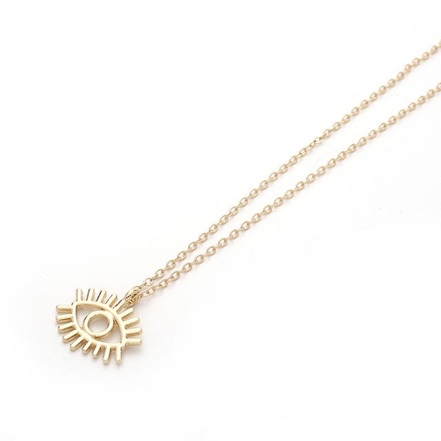 Rhinestone Gold Chain Necklaces