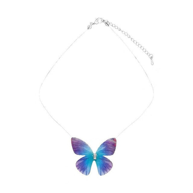 Gold Butterfly Pendant Necklace