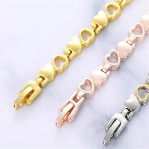 Fashion Hearted design Stainless Steel Bracelets