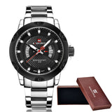 Waterproof Stainless Steel Wrist Watch