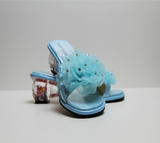Summer lace exclusive funky shoez for girls with heel detail