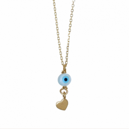 Mini Heart Turquoise Necklace
