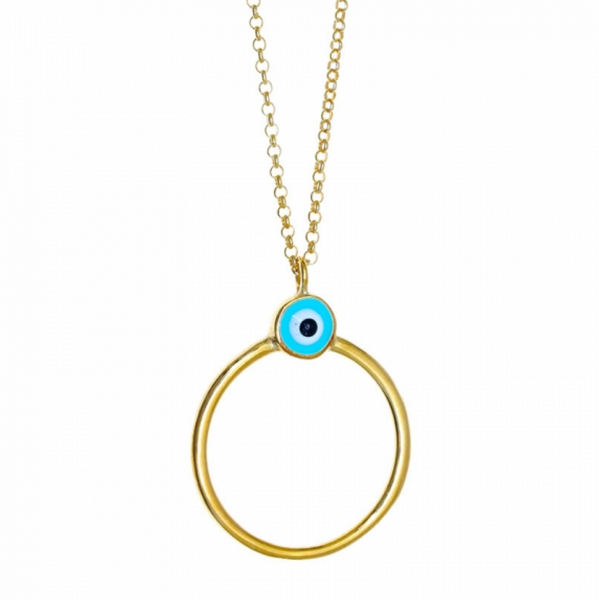 Mati Circle Necklace