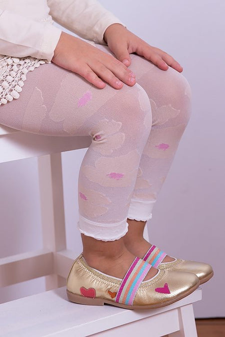 Girls White Fishnet Stockings