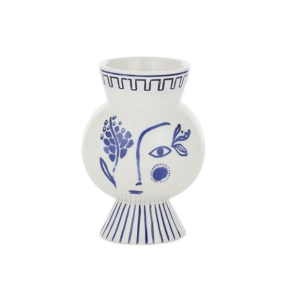 Adelphi Ceramic Face Vase