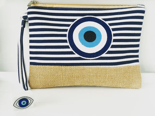 Boho Mati Purse  - Navy Stripe
