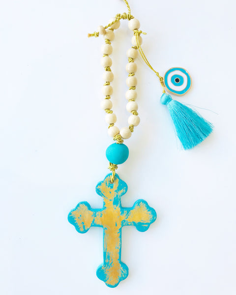 Handmade Cross with Gold Detail