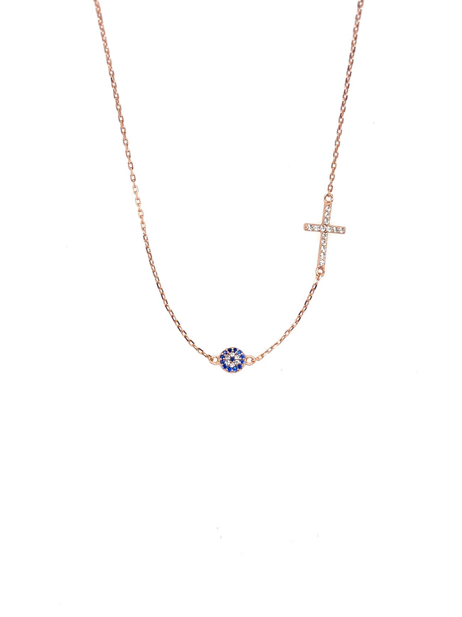 Sterling Silver CROSS MATI Necklace
