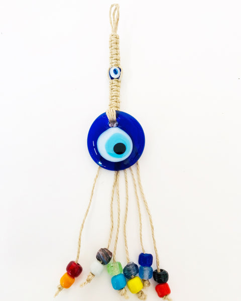 Small Glass Evil Eye Decor