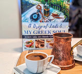 a drop of ladi & my greek soul book, greek cook book, greek recipe book, greek cuisine, greek lifestyle