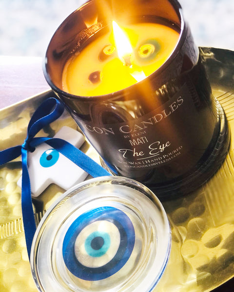 icon candles the mati candle evil eye candle