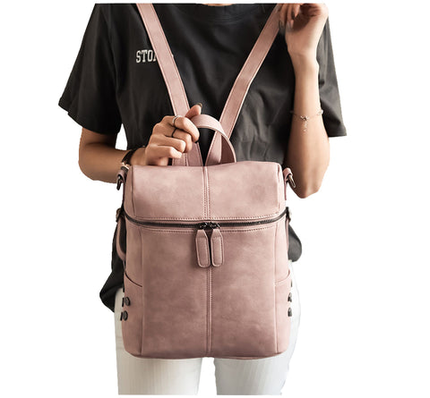 Vegan Leather 'Backpack to Tote Bag'