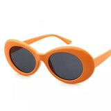 Retro Sunglasses Oval - Grey Lens