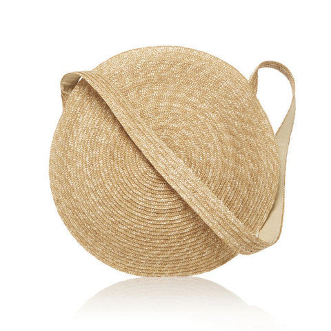 Large Straw Circle Bag