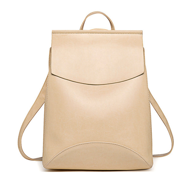 Simple Vegan Leather Backpack