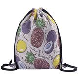 Fruit Print Drawstring Backpack