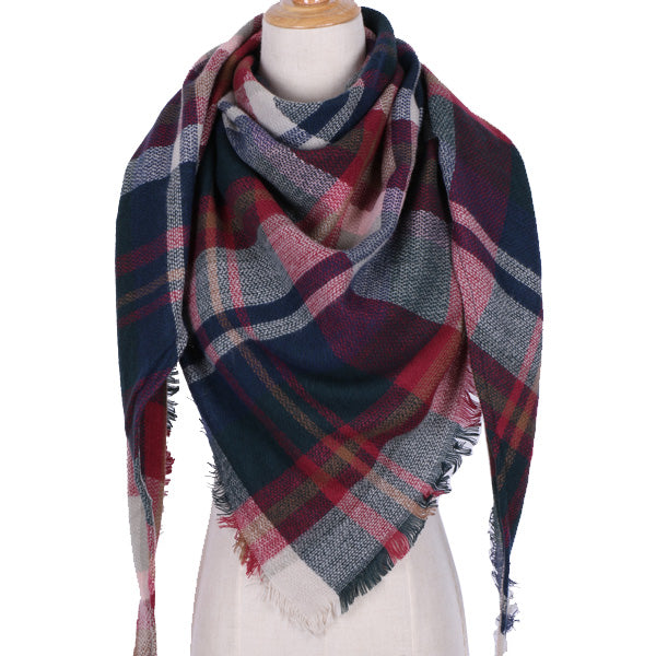 Muti-Color Plaid Blanket Scarf