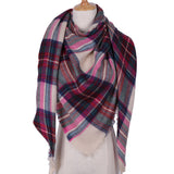 Plaid Blanket Scarf: Red, Green, Tan, Yellow