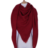 Dark Red Blanket Scarf