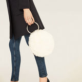 Faux Fur Circle Bag