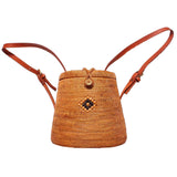 Rattan Straw Backpack