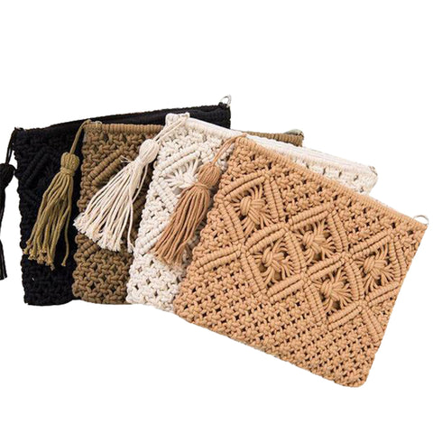 Knotted Rope Clutch Purse