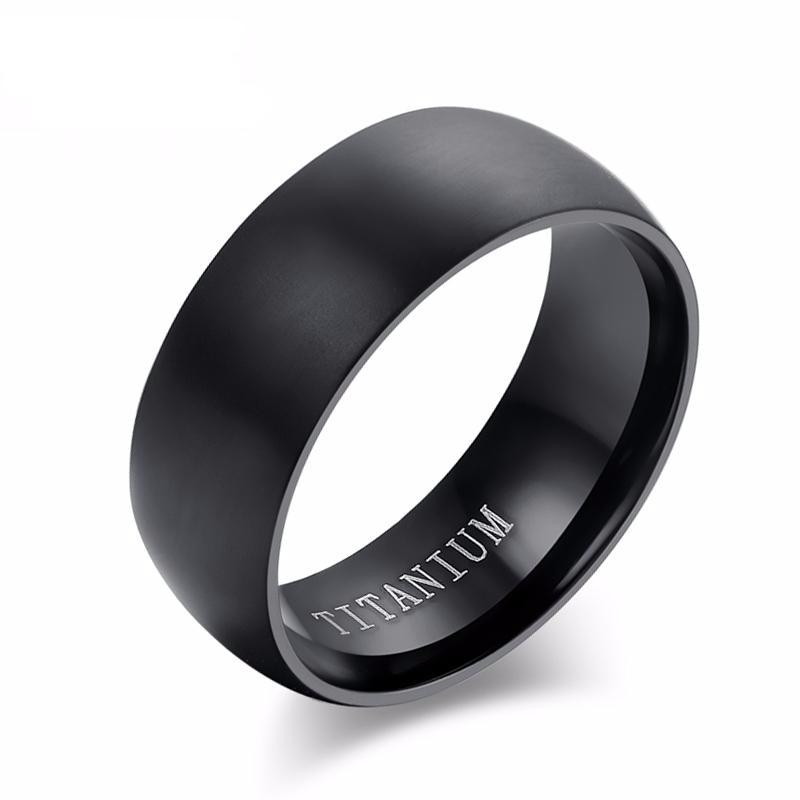 Men's 100% Titanium 8mm Ring