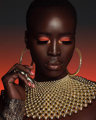 Summer Eyeshadow look on dark skin