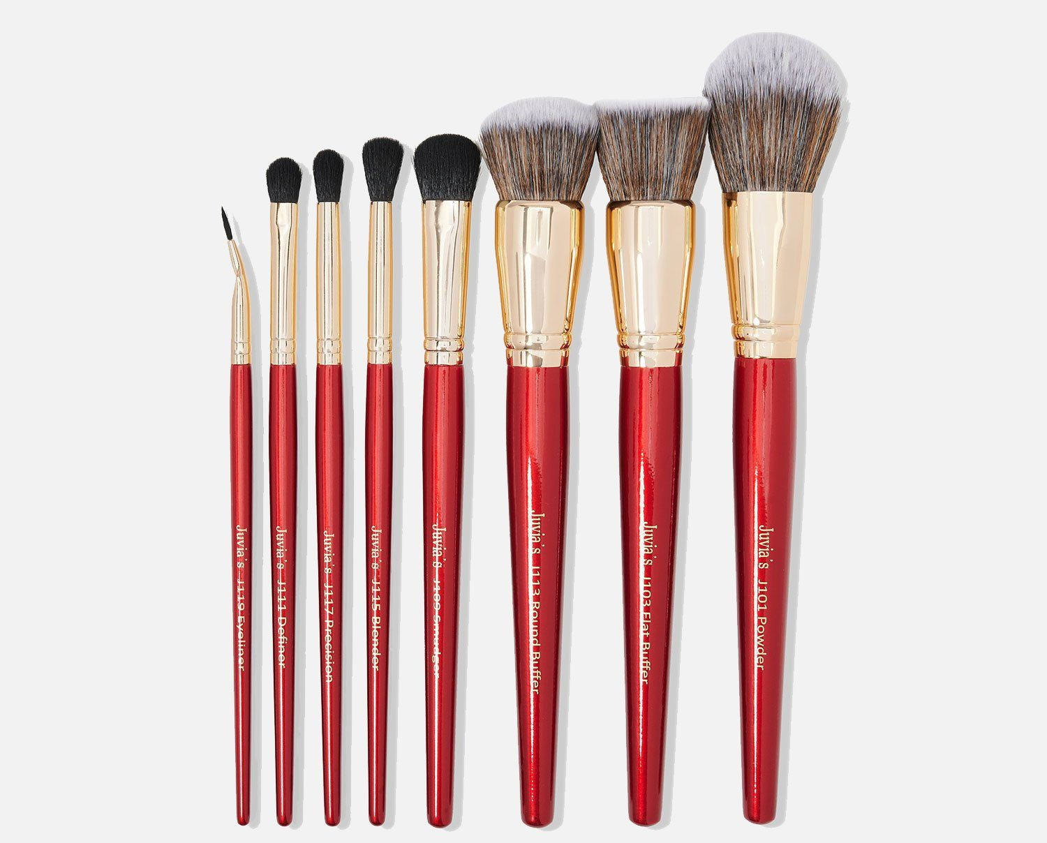 8pcs Red Brush Set
