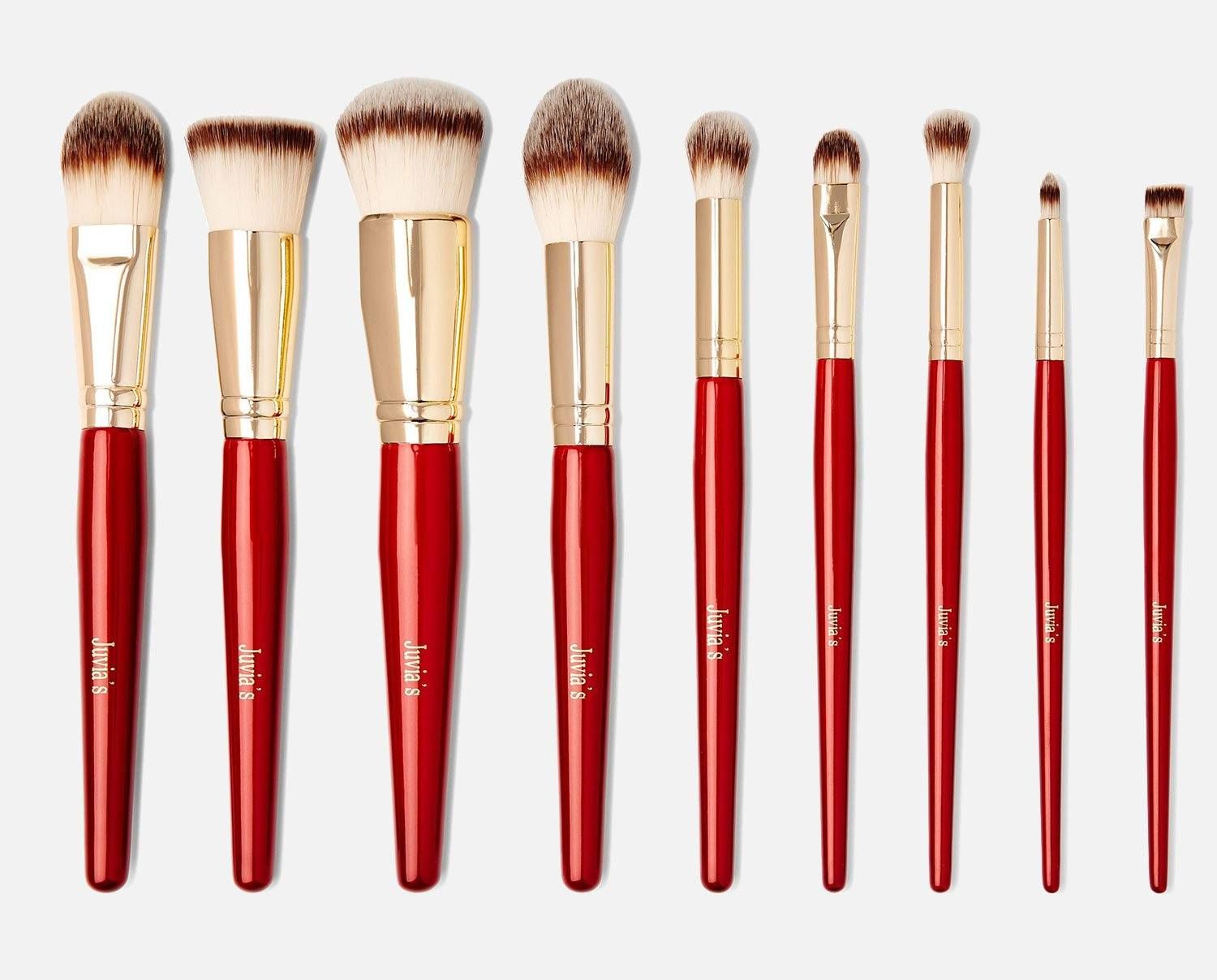 9PCS PRO RED BRUSH SET