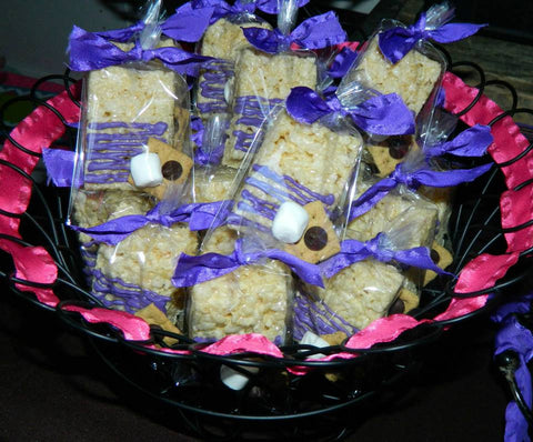 12 Smore Love Rice Crispy Krispie Treats Sweets Table Candy Buffet Wedding Birthday Bridal Baby Shower Favors - Sparkling Sweets Boutique,  - chocolate