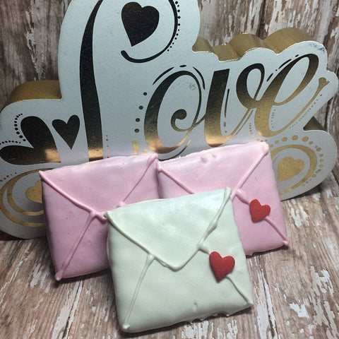 12 Love Letter Chocolate Covered Graham Crackers Classroom Treats Birthday Bridal Shower Treats Sweets Table Candy Valentines Sweetest Day - Sparkling Sweets Boutique,  - chocolate