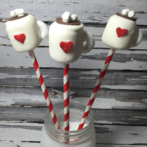 12 Marshmallow Cocoa Coco Cup Sweets Table Party Christmas Holiday Party Treats - Sparkling Sweets Boutique,  - chocolate