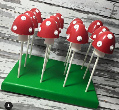 1 dozen Red White Mushroom Power Up Chocolate 3D Woodland Forest Theme Birthday Party Favors Second Sweets Table Candy Buffet - Sparkling Sweets Boutique,  - chocolate