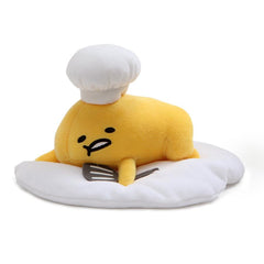 Gudetama Lazy Egg with Chef's Hat and Spatula Plush, 7.5""