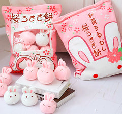 BIG! Kawaii Japan Plush Animal Pillow, 8 Bunny Dolls Inside!