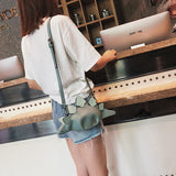 Premium PU Quality! Stegosaurus Crossbody Shoulder Bag
