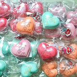 New Version! SHIMMERY Big Heart Poli Macaron SCENTED Squishy Charm