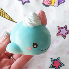 Animelliis Mini Ice Cream Uniwhale Scented Slow Rising Squishy Charm