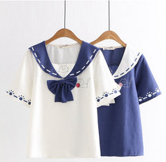Meow Bow Sailor Tee