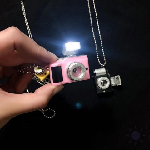 Mini Pink Camera GLOWING Necklace