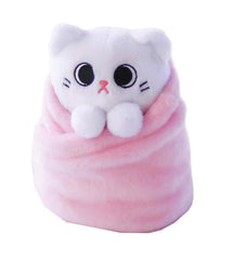 Purritos Cat Plush Mochi Pink 7""