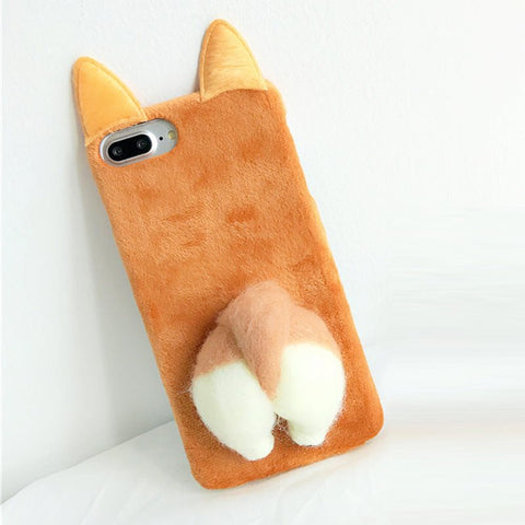 So Kawaii! Fluffy Corgi Butt Phone Case For Iphone