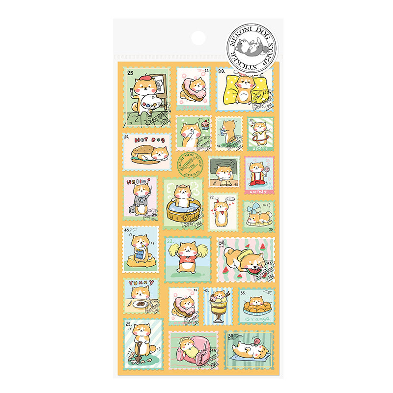 STAMP Designs! Nekoni Licensed Puppy, Panda, and Cat Stickers