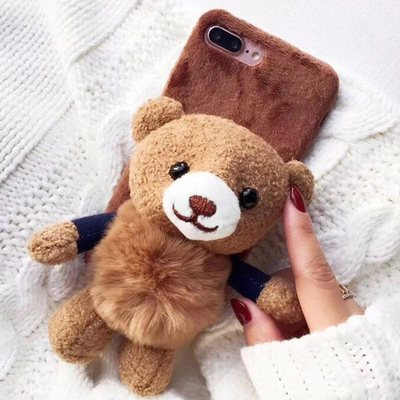 So Kawaii! Fluffy Bear Doll Phone Case For Iphone