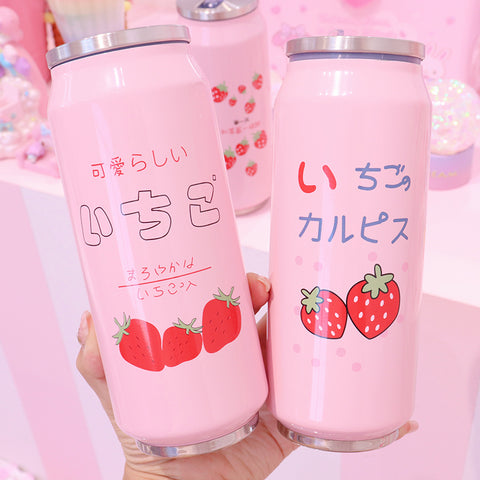 Strawberry Canned Vacuum Cup