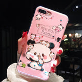 Mochi Mochi Panda Bling Bling Silicone Phone Case For Iphone
