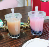 DIY Your Own Boba Tea Liquid Keychain, Ice Cube & Boba Inside!